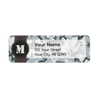 Urban camouflage return address label