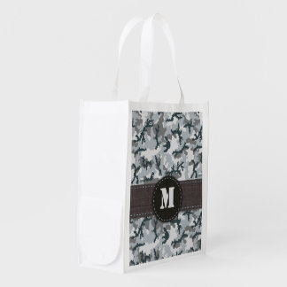 Urban camouflage reusable grocery bag