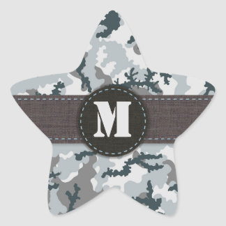 Urban camouflage star sticker