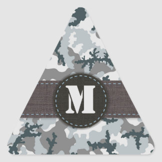 Urban camouflage triangle sticker