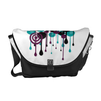 Urban Circles Custom Name White Courier Bags