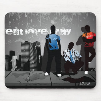 Urban City Eat Love Pray Mouse Pad