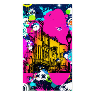 urban city graffiti paint splatter design colorful pack of standard business cards