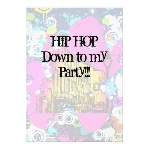 urban city graffiti paint splatter hip hop party custom invite