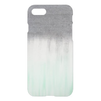 urban concrete, mint green iPhone 7 case