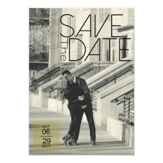 Urban Deco Save The Date | Wedding Card