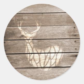 Urban Deer Round Stickers