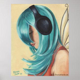 Urban Fairy Poster Music Faerie Art