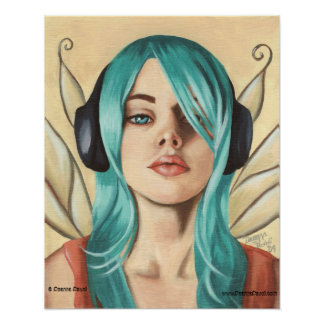 Urban Fairy Poster Music Faerie Art Faery Art