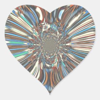 Urban fantastic Lovely design Colors Heart Sticker