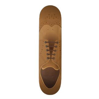 Urban Fashion Brown Leather Men's Shoe Skateboard Skate Decks
