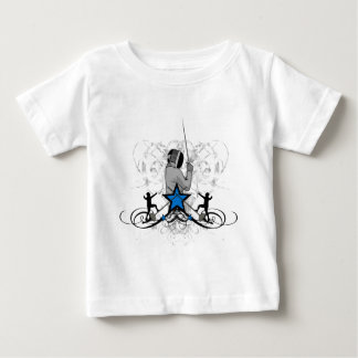 Urban Fencing Illustration Baby T-Shirt