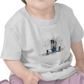 Urban Fencing Illustration Tee Shirts