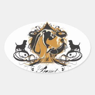 Urban Flourish Basset Hound Sticker