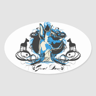 Urban Flourish Great Dane Sticker