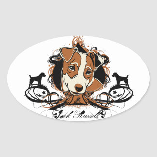 Urban Flourish Jack Russell Sticker