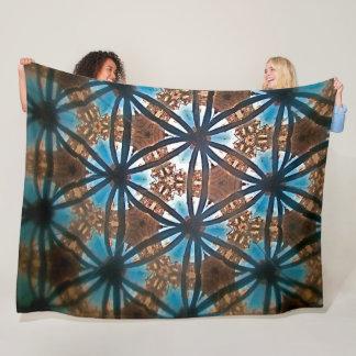 URBAN FLOWER KALEIDOSCOPE Large Fleece Blanket