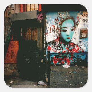 Urban Fragments - Street Art - New York City Square Sticker