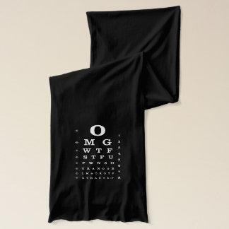 Urban Geek Dictionary Eye Chart Girly Scarf