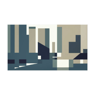 Urban Geometric Art Canvas Print