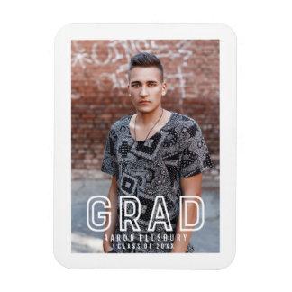 Urban Grad Graduation Photo Magnet
