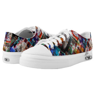 Urban Graffiti Collage Low Tops