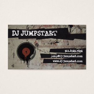 Urban Graffiti Turntable DJ Business Card