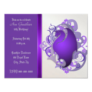 Urban Grape Fantasy Dragon Birthday Party Invite