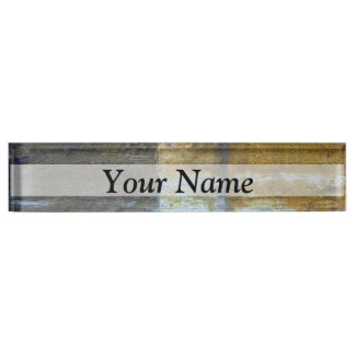 Urban grunge abstract pattern nameplate