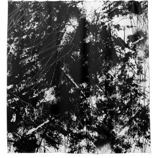 Urban Grunge Black and White Scratch Texture Shower Curtain