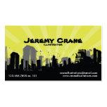 Urban Grunge Cityscape - Yellow