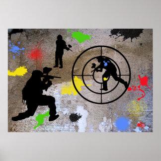 Urban Guerilla Paintball Poster