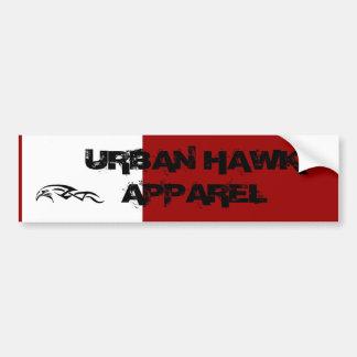 URBAN HAWK APPAREL CAR BUMPER STICKER
