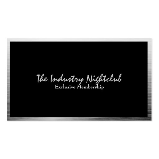 Urban Hip Brushed Metal Business Cards