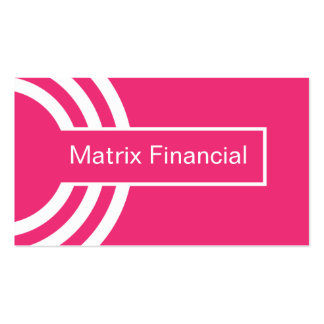 Urban Hipster Business Card, Pink Pack Of Standard Business Cards