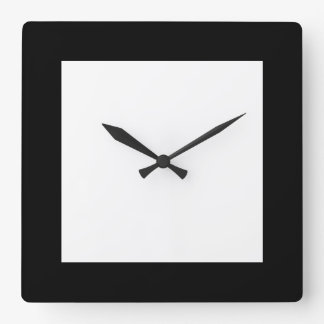 Urban Hottie Plain Pierot  Black and White Clock
