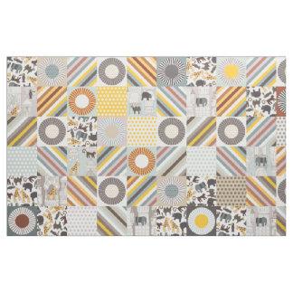 urban jungle cheater quilt squares fabric