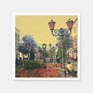 Urban Landscape Colorful Paper Napkin