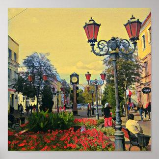 Urban Landscape Colorful Poster