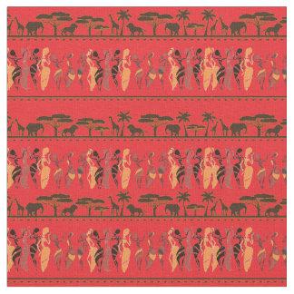 Urban Lights African Safari Animal Dancers Fabric