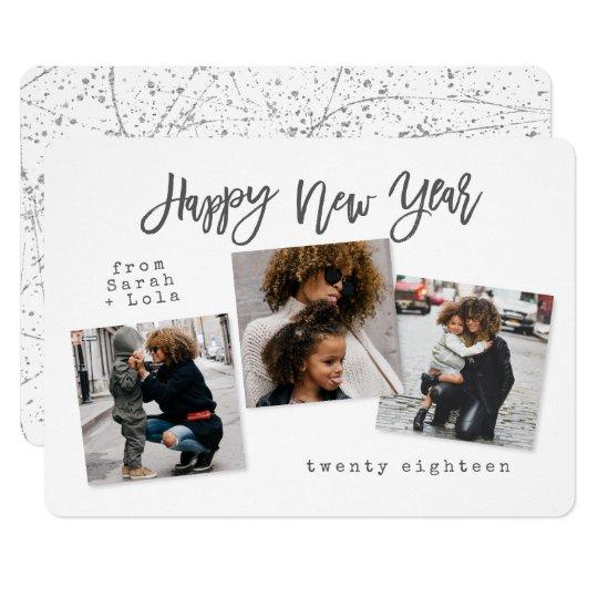 URBAN MODERN HAPPY NEW YEAR(SILVER) CARD