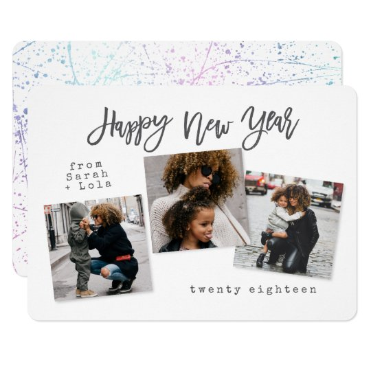 URBAN MODERN HAPPY NEW YEAR(UNICORN) CARD