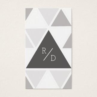 Urban & Modern Triangle | Custom Business Initials Business Card