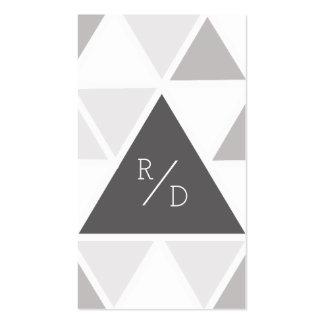 Urban & Modern Triangle | Custom Business Initials Pack Of Standard Business Cards