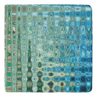 Urban Oasis Marble Trivet by Artist C.L. Brown