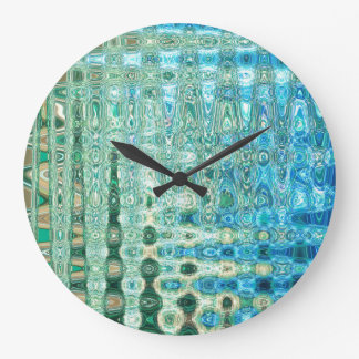 Urban Oasis Round Clock by Artist C.L. Brown