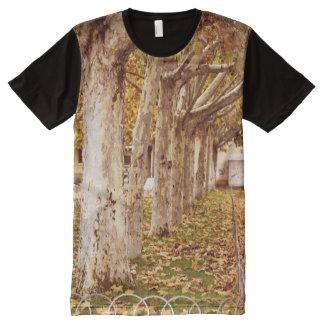 Urban park in autumn All-Over print T-Shirt