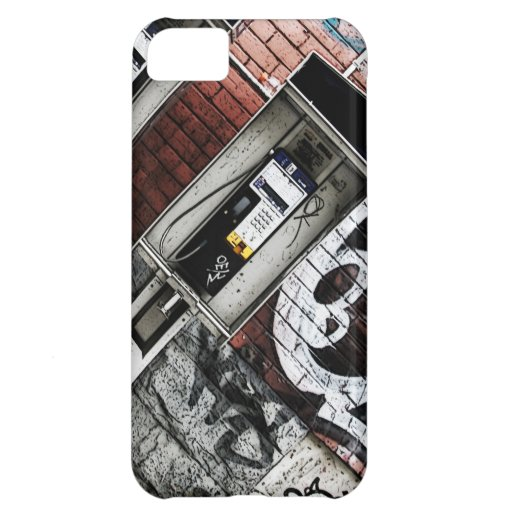 urban payphone on brick wall with graffiti iPhone 5C cover
