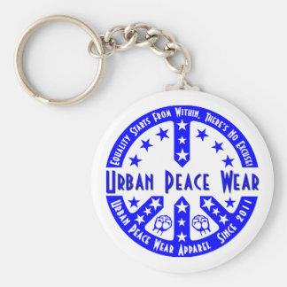 Urban Peace Wear Basic Round Button Key Ring