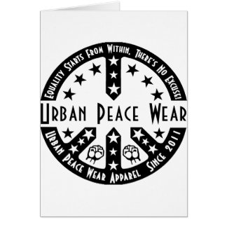 Urban Peace Wear Greeting Card